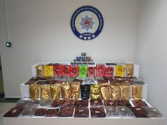 Elazığ'da 70 kilogram kaçak nargile tütünü ele geçirildi