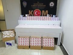 Elazığ'da 225 karton kaçak sigara ve bandroller ele geçirildi