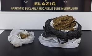 Elazığ'da uyuşturucu ile yakalanan 2 şüpheli tutuklandı