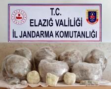 Elazığ'da uyuşturucu operasyonu: 62 kilo toz esrar ele geçirildi
