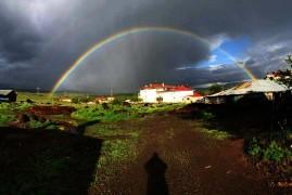 Elazığ'da  gökkuşağı şöleni