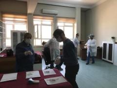 Elazığspor ekibine, Korona virüs testi yapıldı