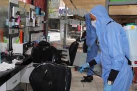 Randevu listeleri dolan berberler dezenfekte edildi, açılmayı bekliyor