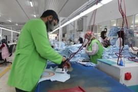 Elazığ'da normalleşme süreciyle birlikte tekstilde seri üretim başladı