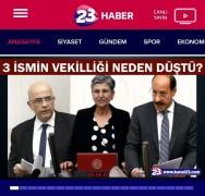 Elazığ'da terör sempatizanlarından, televizyonun sitesine siber saldırı