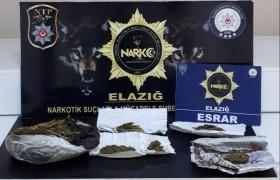 Elazığ'da uyuşturucu ile mücadele