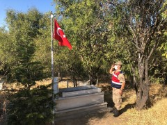 Elazığ'da Mehmetçik'ten şehitlik hassasiyeti