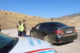 Elazığ'da jandarma 187 personelle uygulama yaptı