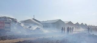 Elazığ'da samanlık yangını