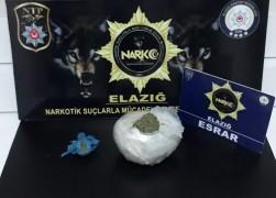 Elazığ'da uyuşturucu ile mücadele:2 tutuklama