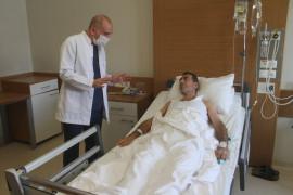 Karın ağrısı ile kanser hastalığı ortaya çıktı, kapalı yöntemle sağlığına kavuştu