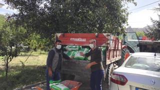 Palu'da 8 ton yem bitkisi dağıtıldı