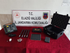 Elazığ'da kaçak kazı yapan 5 şüpheli yakalandı