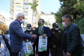 Elazığ'da vatandaşlara 10 bin adet ücretsiz fidan dağıtıldı