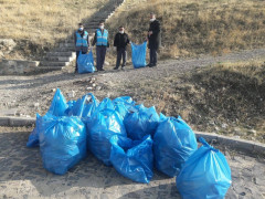 Elazığ'ın Palu ilçesinde çevre temizliği