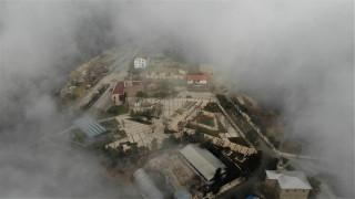 Harput'ta sis bulutlarının görsel şöleni