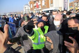İçişleri Bakanı Süleyman Soylu, 8 bininci deprem konut teslim töreni için Elazığ'da