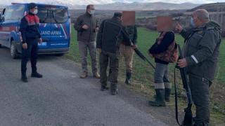 Sokağa çıkma kısıtlamasında ava giden 6 şahıs yakalandı