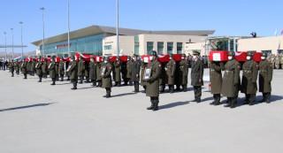11 şehit Elazığ'dan törenle Ankara'ya uğurlandı