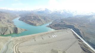 Elazığ Kanatlı Barajı'nda su seviyesi bin 286 kotuna yükseldi