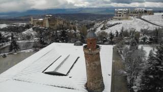 Elazığ'da kar yağışı, Harput  beyaz gelinliğini giydi