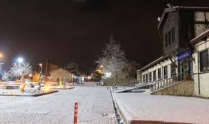 Karla kaplanan  Harput'ta görsel şölen