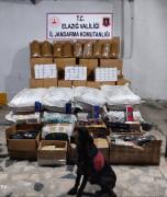 Elazığ'da 315 bin TL'lik  kaçak tütün ürünleri ele geçirildi