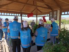 Çocuklar, şehit Fethi Sekin'in kabrini ziyaret edip, müzesini gezdi
