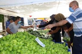Elazığ'da 6 ayrı noktada pazar kuruldu, tedbirler alınarak açıldı