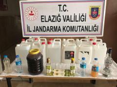 Elazığ'da  sahte içki ele geçirildi: 2 gözaltı