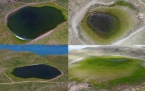 Elazığ'ın 2 bin rakımdaki kalp gölü Bervi kurudu, hayvanlara otlak oldu