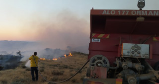 Elazığ'da örtü yangını: 170 dönümlük alan zarar gördü