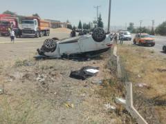 Elazığ'da otomobil takla attı: 1 ölü, 3 yaralı